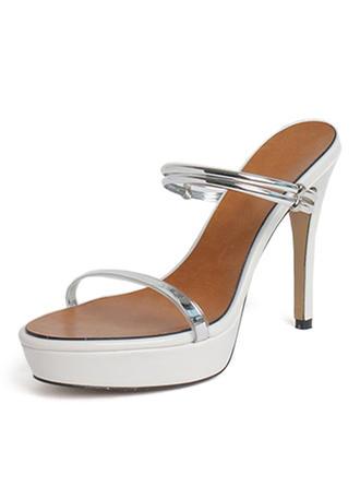 Women's Patent Leather PU Stiletto Heel Sandals Pumps Platform shoes