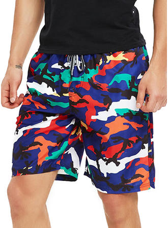 Men's Zebra-stripe Board Shorts