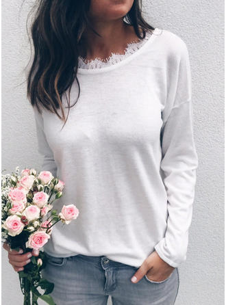 Acrylic Round Neck Plain Sweater