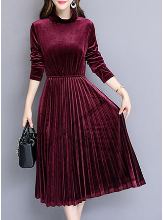 Long Sleeves A-line Midi Casual/Party/Elegant Dresses