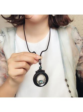 Fashionable Exotic Stylish Alloy Cotton String Unisex Necklaces