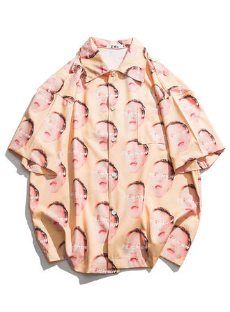 Mænd Print Hawaii Beach Shirts