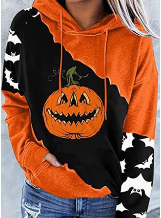 Halloween Imprimé Capuche Manches Longues Sweat-shirt