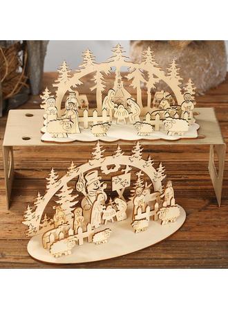 Feliz Navidad Mesa De madera Decoración navideña Diy Craft