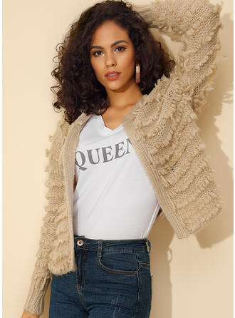 Plain Collarless Sweaters