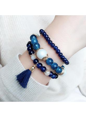 Сплав Смола з Кисточки з ниток Жіночі Модні браслети (Продано в одній частині)