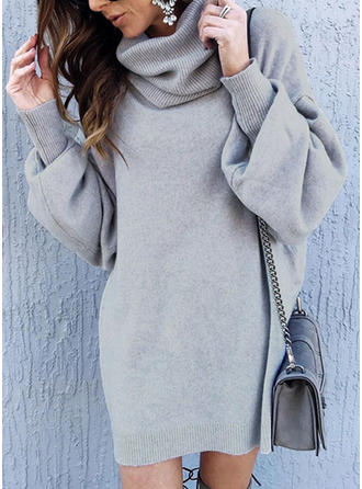 Solid Cowl Neck Sweaters