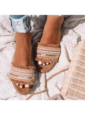 Vrouwen Stof Flat Heel Sandalen Flats Peep Toe met Anderen schoenen
