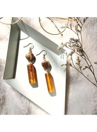 Unique Alloy Resin Women's Fashion Earrings (Set of 2)