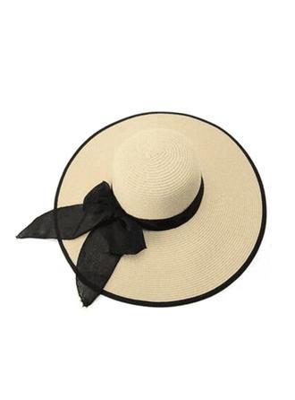 Doamnelor Raffia Straw cu bowknot Plajă / pălării de soare