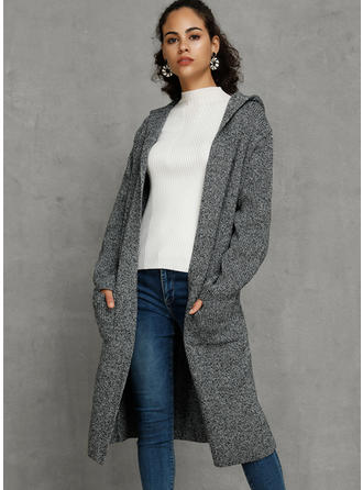Solid Fickor Hooded Cardigan
