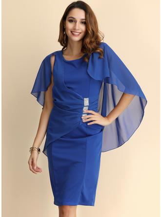Solid Split Sleeve Bodycon Knee Length Party/Elegant Dresses