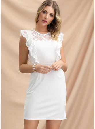 Lace Sleeveless Sheath Above Knee Party/Elegant Dresses