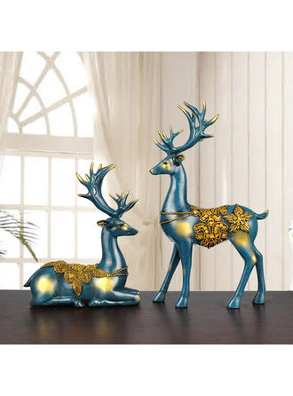 Romantic Lovely Decorative Resin Statues Set of 2