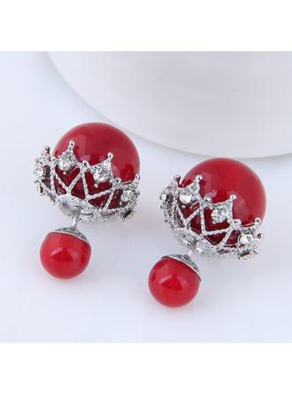 Beautiful Alloy Rhinestones With Rhinestone Women's Fashion Earrings