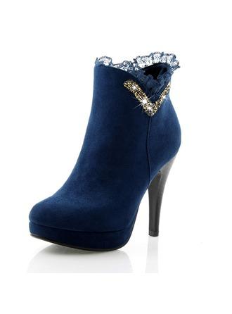 Femmes Similicuir Talon stiletto Escarpins Plateforme Bout fermé Bottes Bottines chaussures