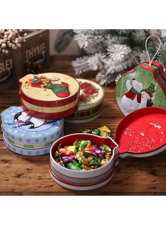Feliz Navidad Metal Tarros de caramelo