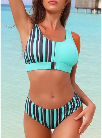 Leopardo Raya Hojas Correa Cuello en U Hermoso Atractivo Bikinis Trajes de baño