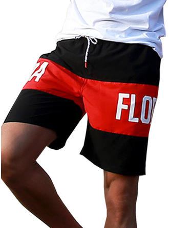 Men's Splice color Lined Board Shorts