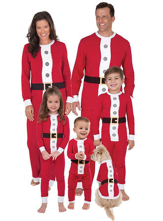 Color-block Family Matching Christmas Pajamas