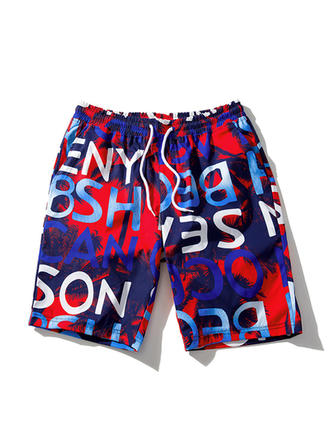 Men's Letter Quick Dry Board Shorts