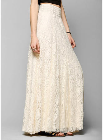 Lace Lace Maxi A-Line Skirts