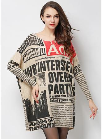 Acrylic Round Neck Print Sweater