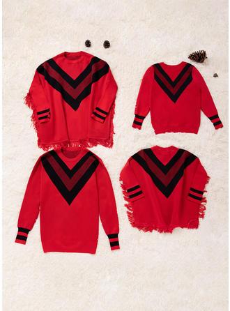 Kolor-Block Rodzinne Dopasowanie Swetry