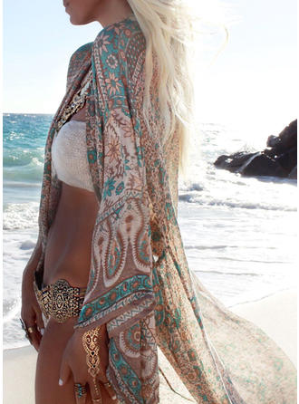 Fashionable Colorful V-neck Cover-ups Swimsuit