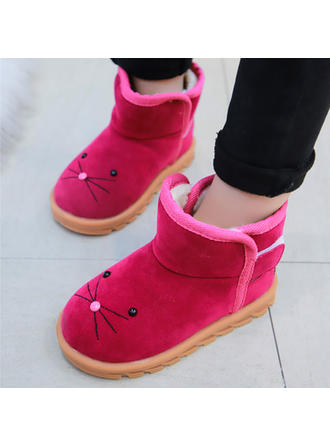 Girl's Suede Closed Toe Snow Boots Flats