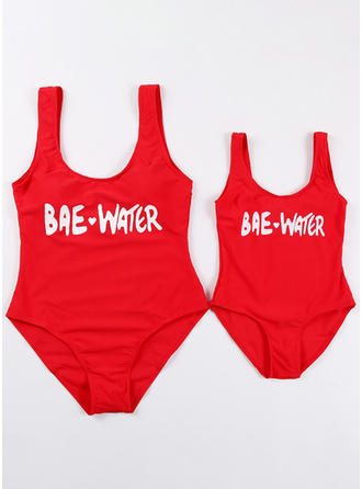 Mommy and Me Letter Matching Swimsuit