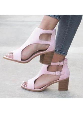 Dla kobiet PU Obcas Slupek Sandały Czólenka Otwarty Nosek Buta Z Pozostałe obuwie