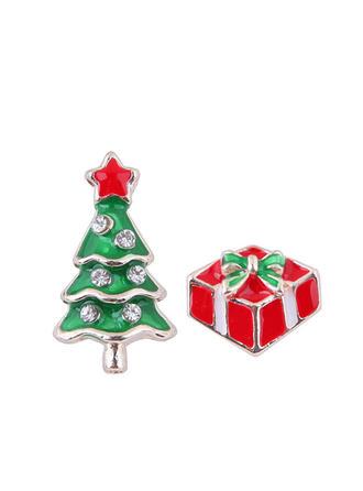 Christmas Tree Alloy Earrings Christmas Jewelry