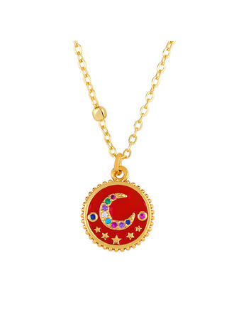 Exotic Chic Alloy With CZ Cubic Zirconia Shell Necklaces