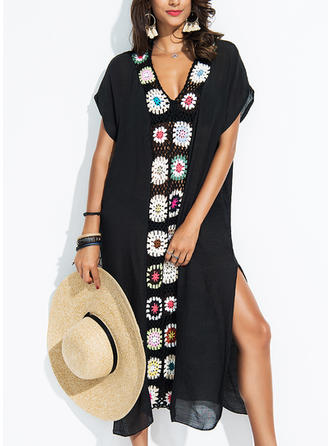 Floral V-neck Beautiful Cover-ups Swimsuits