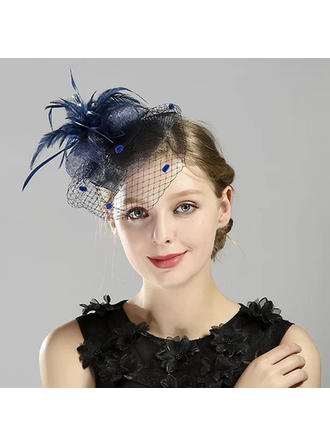 Ladies' Glamourous/Simple/Handmade/Eye-catching Feather/Net Yarn With Feather Fascinators