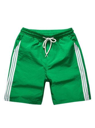 Men's Splice color Swim Trunks Swimsuit