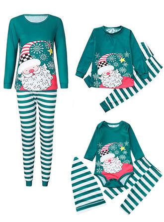 Babbo A Righe Famiglia Partita Di Natale Pajamas