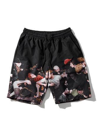 De Los Hombres Impresión Secado rápido Pantalones cortos