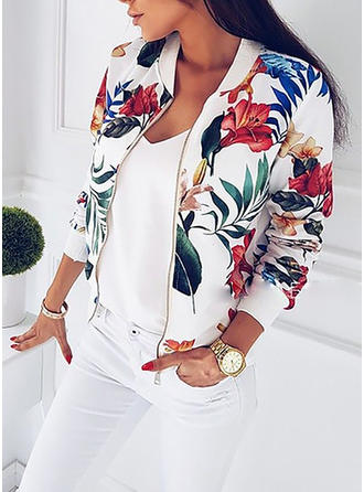 Cotton Long Sleeves Floral Jackets