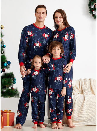 Santa Cartoon Family Matching Christmas Pajamas