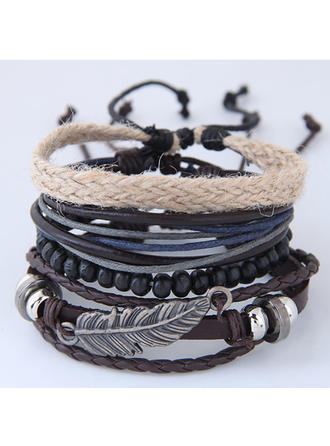 Chic Alliage Similicuir Dames Bracelets de mode