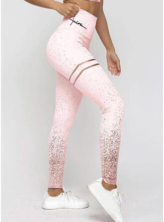 Streep pailletten Casual sportieve Yoga Leggings