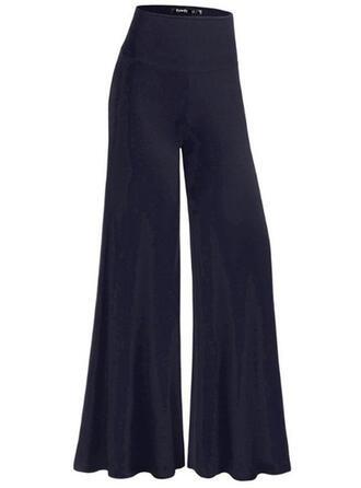 Einfarbig Lange Elegant Lange Einfarbig Hosen