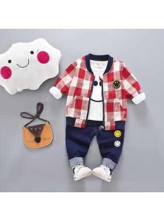 Bébé & Bambin Garçon Plaid Coton Jeans,Manteau,T-shirt Définir La Taille