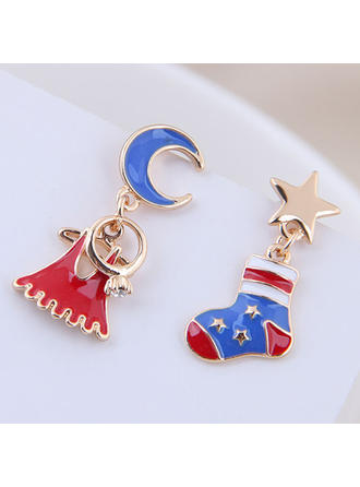 Fashionable Lovely Star Shaped Alloy Earrings Christmas Jewelry