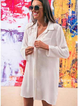 Enfärgad fashionabla Strandklänningar Badkläder
