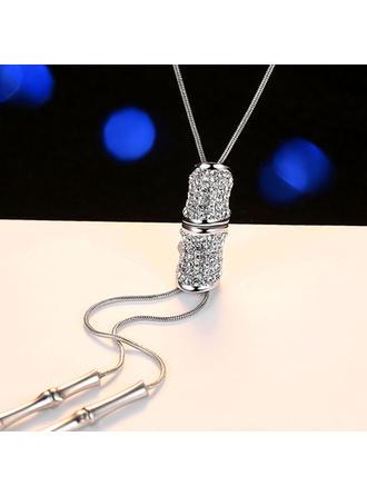 Modisch Legierung Strasssteine Damen Mode-Halskette