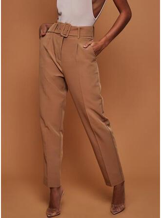 Couleur Unie Longue Élégante Longue Couleur Unie Pantalon