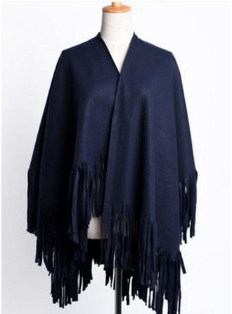 Solid Color Oversized/Shawls/fashion Acrylic/Artificial Wool Scarf